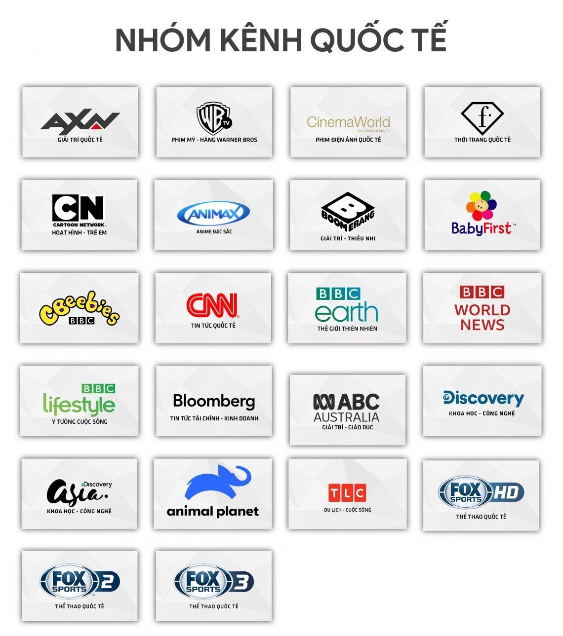 Nhóm kênh quốc tế