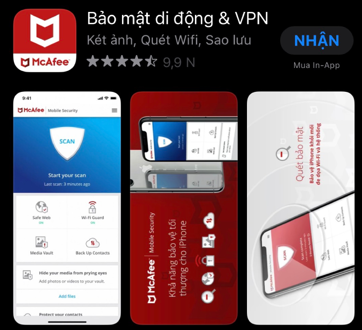 McAfee Mobile Security cho iPhone