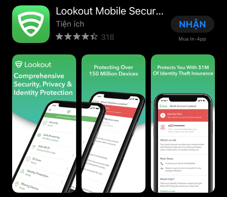 Lookout Mobile Security cho iOS