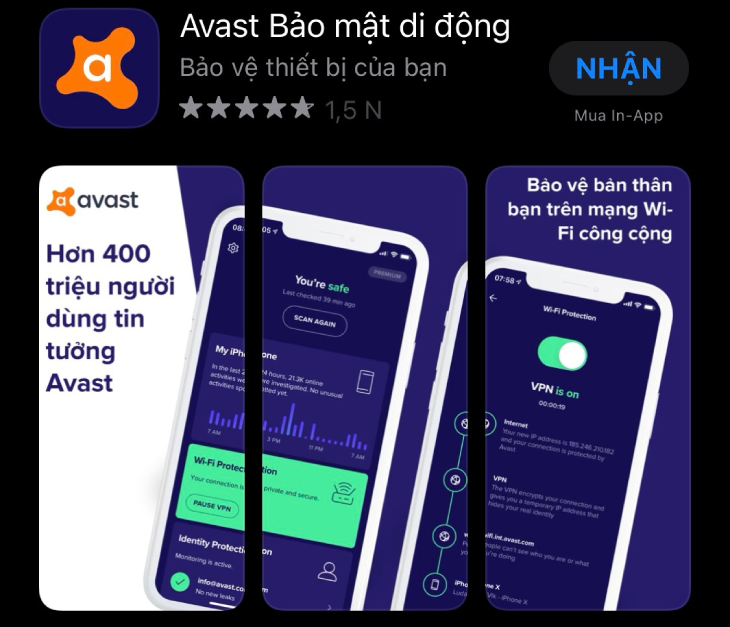 Avast Security & Privacy cho iPhone