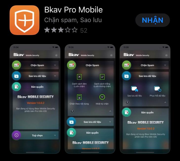 Bkav Pro Mobile cho iPhone