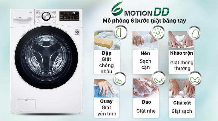 Mô phỏng 6 chuyển động giặt tay - 6 Motion DD