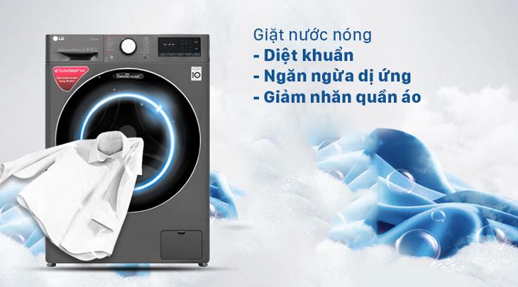 Giặt nước nóng diệt khuẩn, loại bỏ vết bẩn cứng đầu