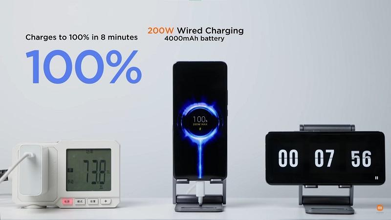 Xiaomi công bố công nghệ sạc nhanh có dây 200W và sạc nhanh không dây 120W