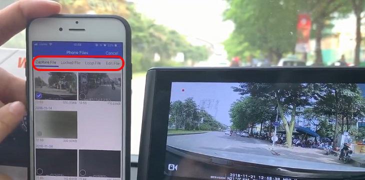 Vào Phone File trên phần mềm Car Assist để xem video
