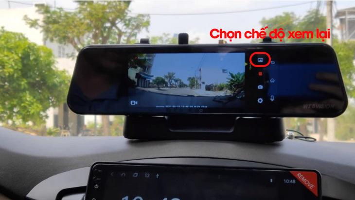 Chế độ xem lại trên camera hành trình Webvision M39 Plus