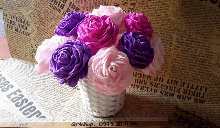 Tổng hợp 3 cách làm hoa hồng bằng giấy nhún đơn giản, đẹp như thật