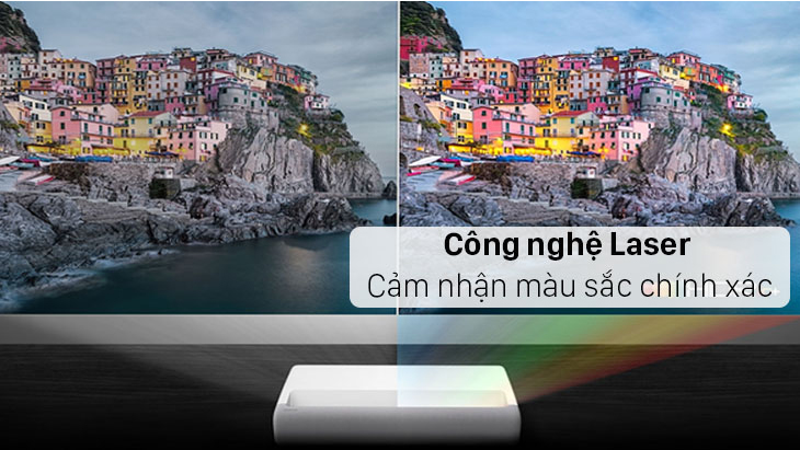 Máy Chiếu Siêu Gần Laser 4K Samsung The Premiere  sử dụng công nghệ chiếu Laser giúp cảm nhận màu sắc chính xác