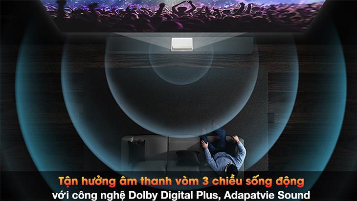 Tận hưởng âm thanh sống động trên máy chiếu với công nghệ Dolby Digital Plus, Adaptive Sound