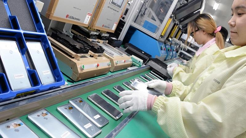 Nhà máy sản xuất smartphone LG