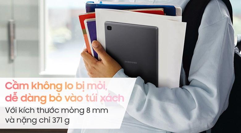 Samsung Galaxy Tab A7 Lite với thiết kế nhỏ gọn