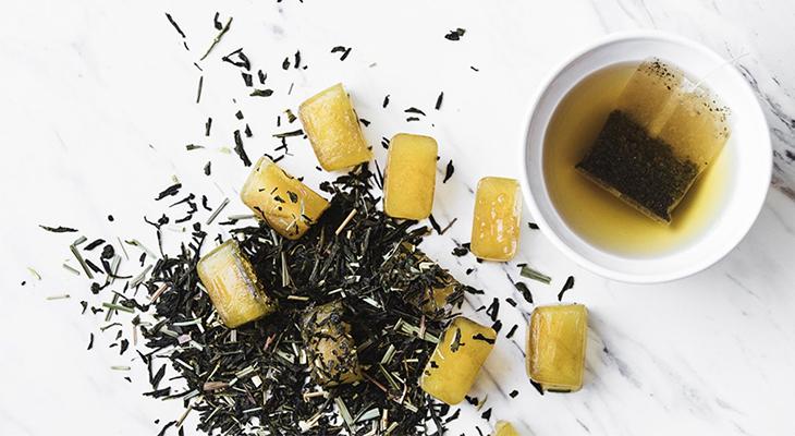 Đá viên trà xanh mật ong