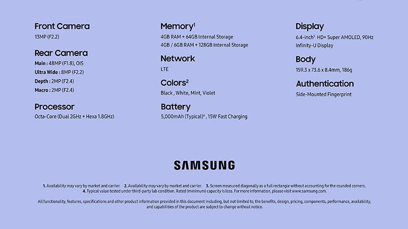 Samsung Galaxy A22 có hiệu năng đủ dùng với con chip Helio G80