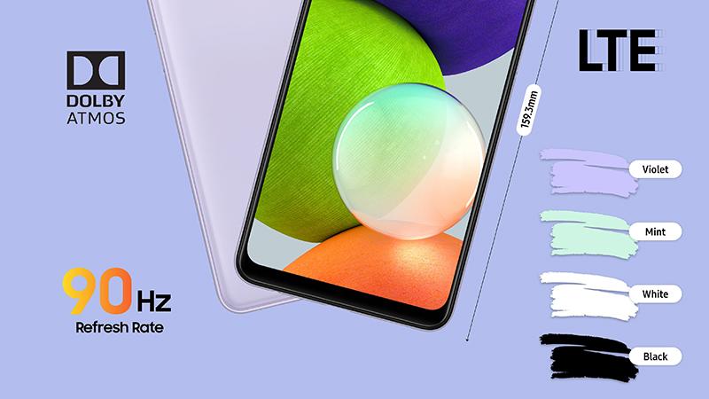 Samsung Galaxy A22 có màn hình 90 Hz mượt mà
