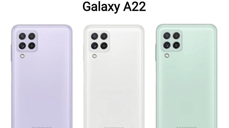 Samsung Galaxy A22 có cụm camera hình vuông nhìn trẻ trung năng động