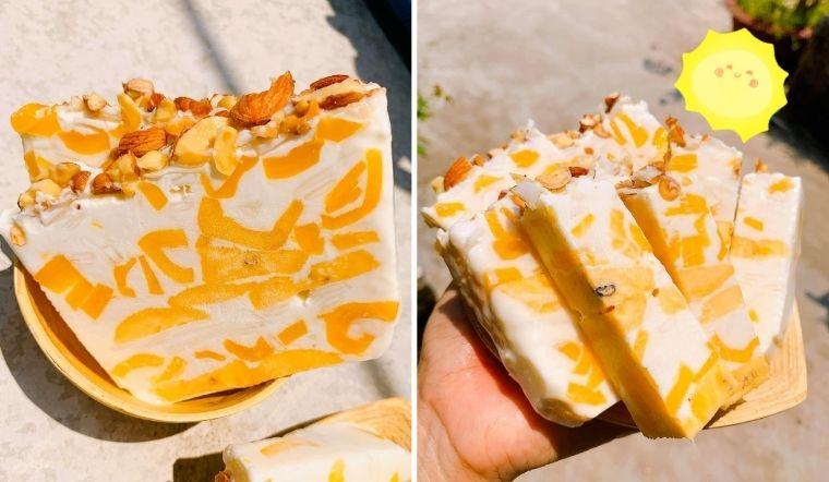 Làm kem chuối mít vàng ươm thơm lành chẳng cần kem hay máy xay