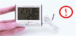 3 lỗi thường gặp trên nhiệt ẩm kế. Nguyên nhân và cách khắc phục