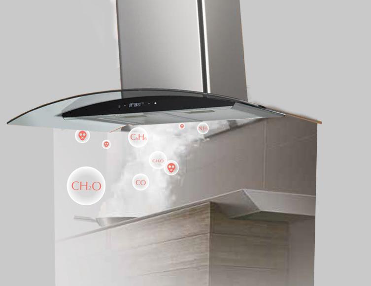 Máy hút mùi CHEF'S sẽ hút sạch mùi hôi khó chịu với hệ thống hút mùi thông minh