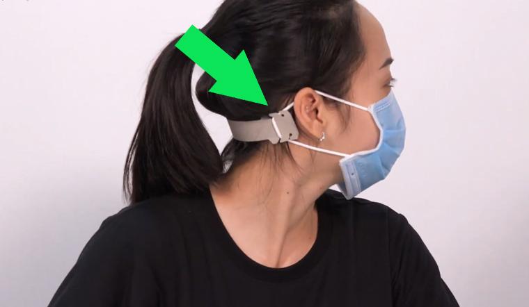 Tự làm dụng cụ để đeo khẩu trang cả ngày cũng không bị đau tai
