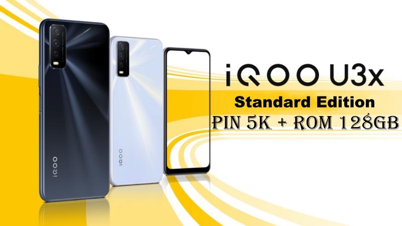iQOO U3x có thêm phiên bản dùng chip MediaTek 4G, pin 5.000 mAh, sạc nhanh 18 W, giá từ 3.2 triệu đồng