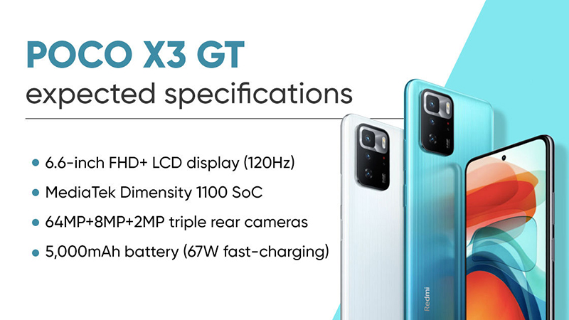 POCO X3 GT has strong performance thanks to 1100 Dimensity chip