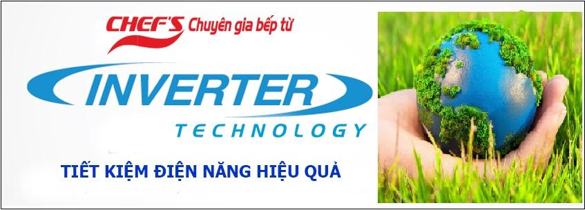 Bếp từ CHEF'S tiết kiệm tới 20% điện năng với công nghệ Inverter thông minh vượt trội