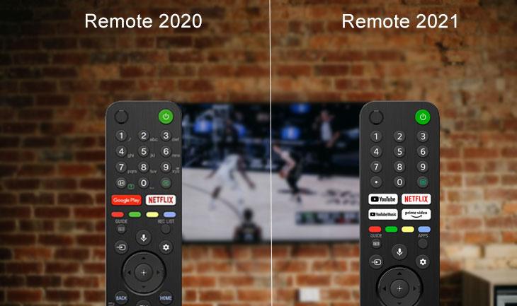 Remote tivi Sony 2021