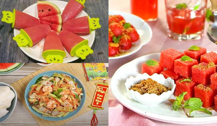 Tổng hợp 3 công thức chế biến món ăn giảm cân từ dưa hấu