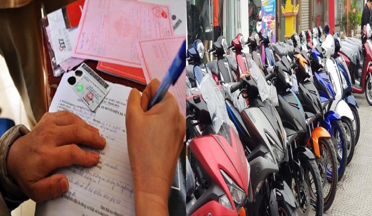 Hướng dẫn chi tiết các bước làm thủ tục đăng ký xe máy mới nhất