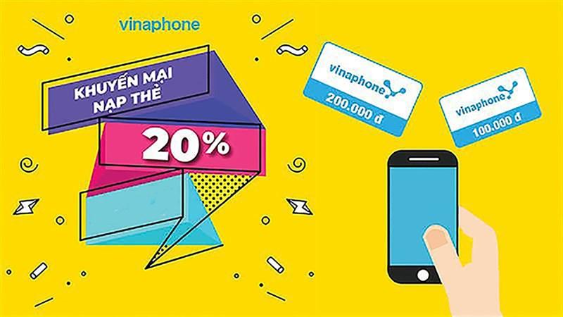 Vinaphone tặng thêm 20% giá trị thẻ cào khi nạp thẻ duy nhất 1 ngày