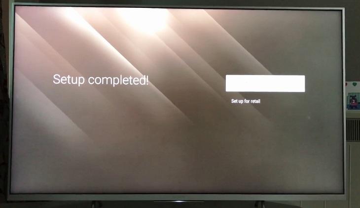 Hoàn tất việc cài đặt tivi Sony