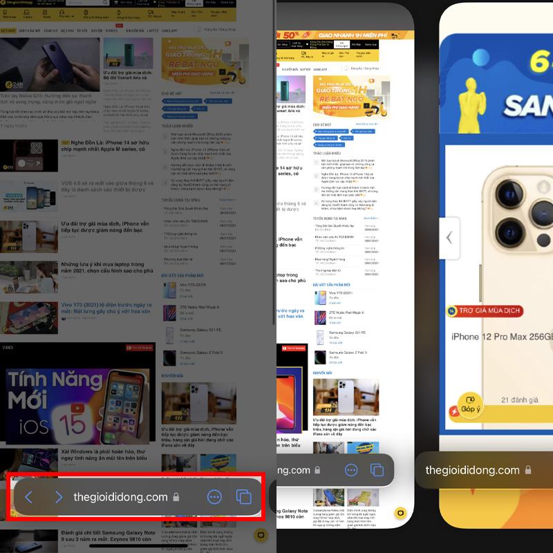 Tính năng tiện ích trên Safari