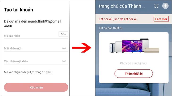 Hướng dẫn đăng ký tài khoản TCL Home cho người dùng mới
