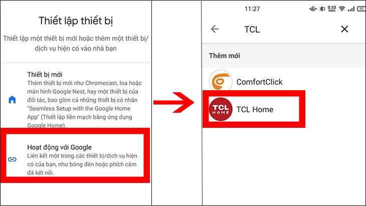 Hướng dẫn kết nối Google Home và TCL