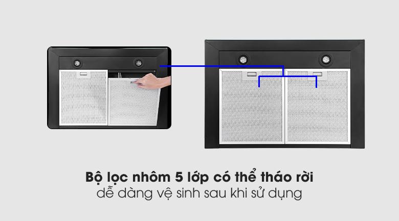 máy hút mùi junger llafm từ chất liệu an toàn và bền bỉ, dễ dàng vệ sinh