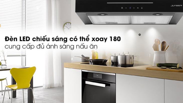 Máy hút mùi âm tủ Junger HRJ-701 được trang bị đèn LED có thể xoay 180 độ