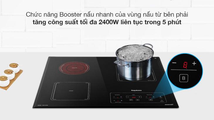 Bếp từ hồng ngoại Nagakawa NAG1253M có chức năng Booster