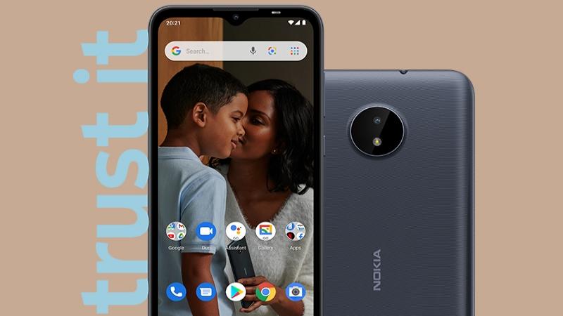 Nokia C20 sắp được mở bán tại Thế Giới Di Động, máy giá rẻ nhưng vẫn có màn hình lớn, đèn LED flash ở cả mặt trước và sau