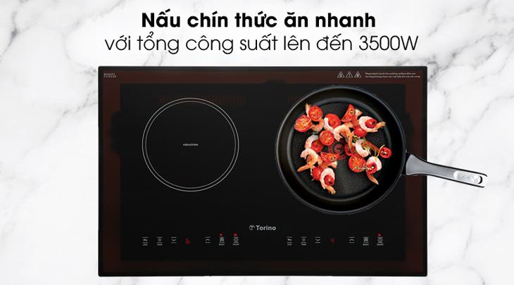nấu chín thức ăn nhanh với công suất lớn 3500W