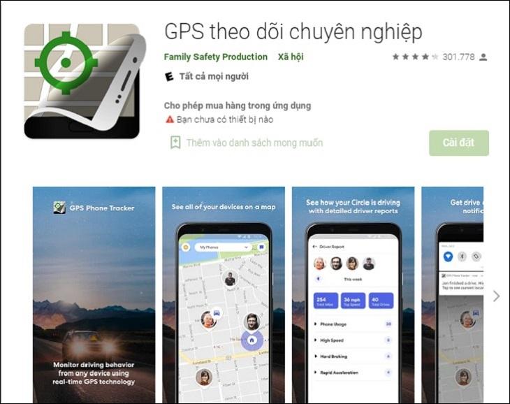 Phần mềm GPS Phone Tracker