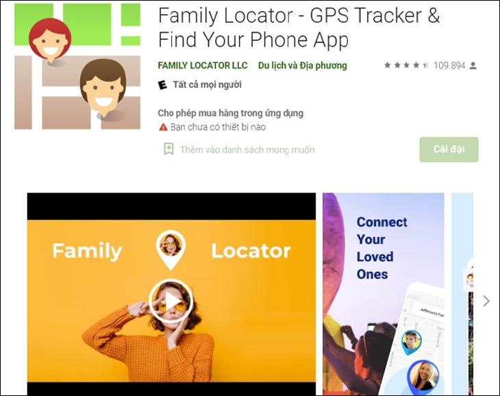 Phần mềm Family Locator - GPS Tracker