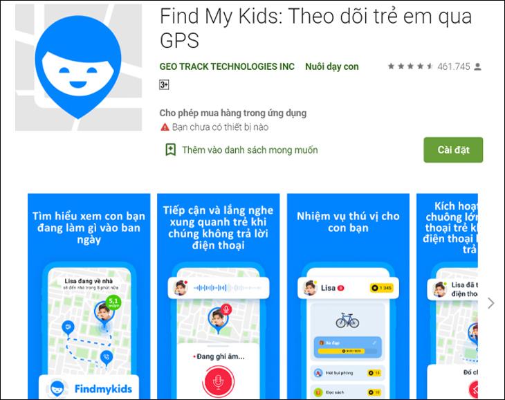 Phần mềm Find My Kids