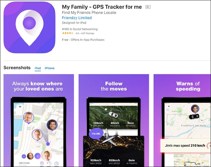 Phần mềm My Family - GPS Tracker for me