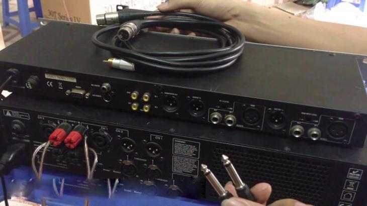 Kiểm tra dây kết nối với vang số