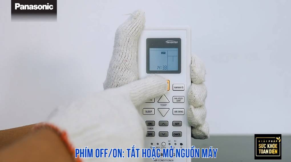 Hướng dẫn sự dụng các chức năng trên điều khiển máy lạnh - Tắt mở thiết bị