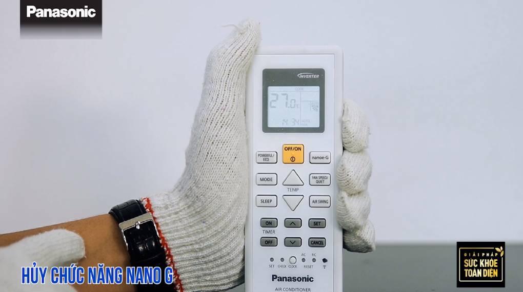 Hướng dẫn sự dụng các chức năng trên điều khiển máy lạnh - Tắt Nanoe-G