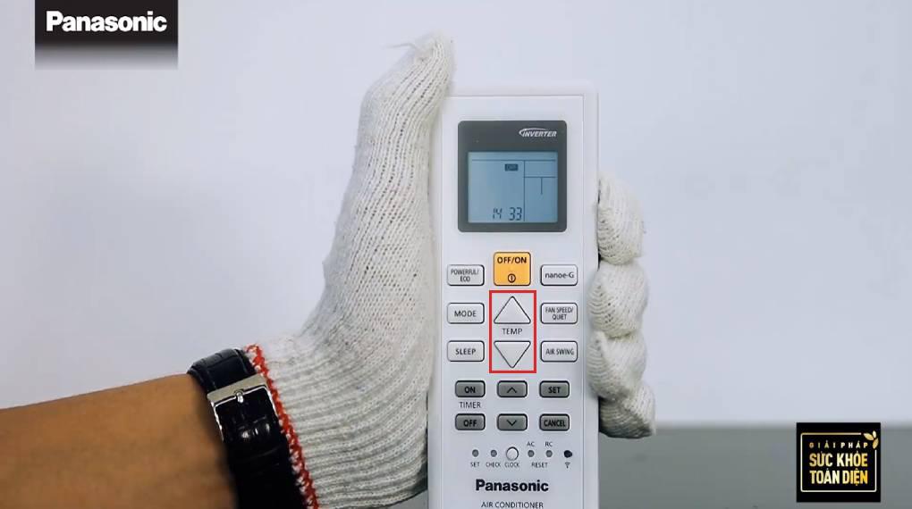 Hướng dẫn sự dụng các chức năng trên điều khiển máy lạnh - Tăng giảm nhiệt độ