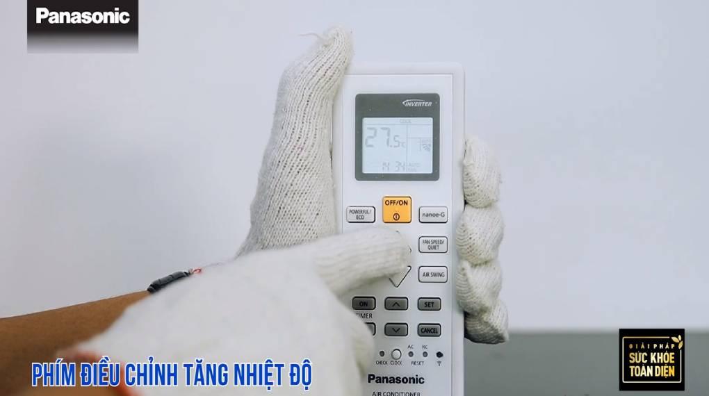 Hướng dẫn sự dụng các chức năng trên điều khiển máy lạnh - Phím tăng nhiệt độ