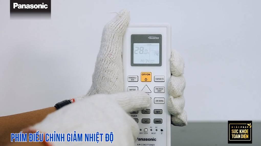 Hướng dẫn sự dụng các chức năng trên điều khiển máy lạnh - Phím giảm nhiệt độ