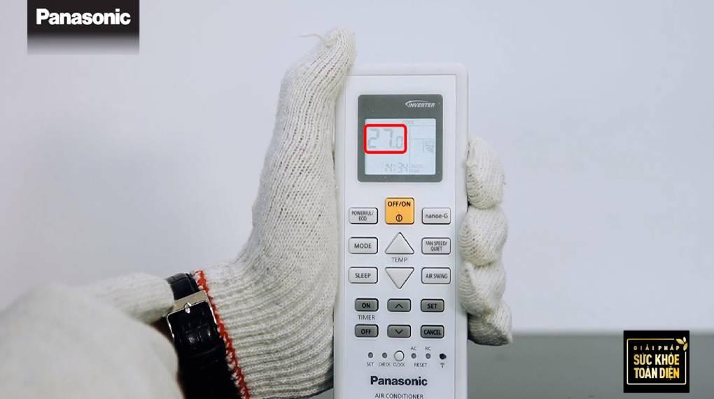Hướng dẫn sự dụng các chức năng trên điều khiển máy lạnh - Hiển thị nhiệt độ giảm
